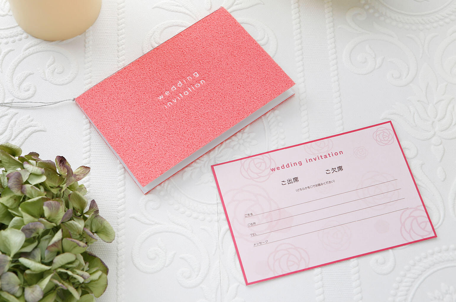 df9e31a9aaca3 いつまでも触っていたくなる結婚式招待状ですので、一度サンプル請求をして実際に手に取ってみてくださいね。