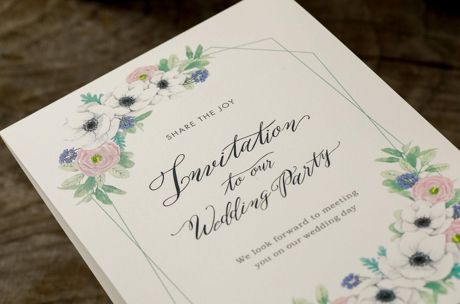 9f8ac21d256de 期間限定☆フラワーフレーム席次表50円キャンペーン♪- 結婚式招待状のbless