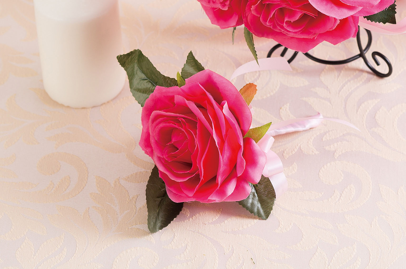 Silk bouquet Hot pinkシルクブーケ ホットピンク